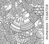 seamless pattern in doodle... | Shutterstock .eps vector #511667218