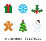 vector collection of christmas... | Shutterstock .eps vector #511675120