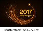 happy new year 2017  vector... | Shutterstock .eps vector #511677679