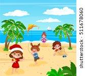 children playing. christmas... | Shutterstock .eps vector #511678060