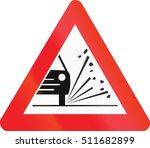 belgian warning road sign  ...   Shutterstock . vector #511682899
