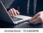 close up of businessman using... | Shutterstock . vector #511683898