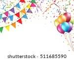 celebration design with flag ... | Shutterstock .eps vector #511685590