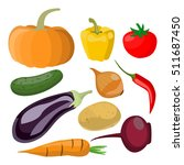 various vegetables  | Shutterstock .eps vector #511687450