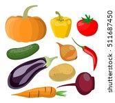 various vegetables  | Shutterstock .eps vector #511687450