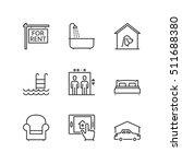 thin line icons set about real... | Shutterstock .eps vector #511688380