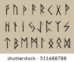 rune set of letters  runes...   Shutterstock .eps vector #511688788