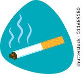 smoking cigarette. deadly smell.... | Shutterstock .eps vector #511689580
