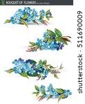 blue forget me not flower... | Shutterstock .eps vector #511690009