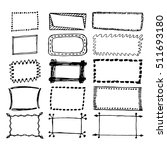 hand drawn rectangle frames set.... | Shutterstock .eps vector #511693180
