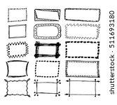 hand drawn rectangle frames set.... | Shutterstock .eps vector #511693180