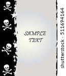 grunge style  skull and stars... | Shutterstock .eps vector #511694164