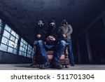 the terrorists with gas mask...   Shutterstock . vector #511701304