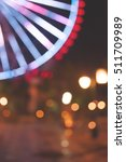 ferris wheel and street lights...   Shutterstock . vector #511709989