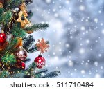 christmas tree background and... | Shutterstock . vector #511710484