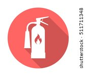 fire extinguisher circle icon... | Shutterstock .eps vector #511711348