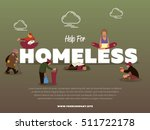 help for homeless banner with... | Shutterstock .eps vector #511722178