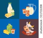 assortment of different dairy... | Shutterstock .eps vector #511722208