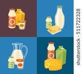 assortment of different dairy... | Shutterstock .eps vector #511722328