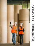 paper mill factory workers | Shutterstock . vector #511724650
