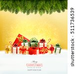 holiday christmas background... | Shutterstock .eps vector #511736539