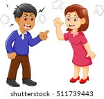 cartoon father and mother... | Shutterstock .eps vector #511739443