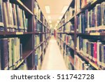 blur school library with book... | Shutterstock . vector #511742728