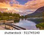 scenic lake water landscape and ...   Shutterstock . vector #511745140