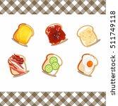 vector of sliced white and... | Shutterstock .eps vector #511749118