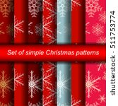 set of christmas backgrounds. ... | Shutterstock .eps vector #511753774