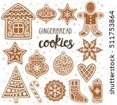 Vector Set Of Gingerbread...