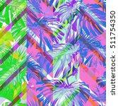 tropical leaves pattern...   Shutterstock . vector #511754350