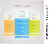 pricing comparison table set... | Shutterstock .eps vector #511770574
