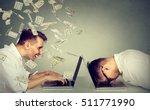 corporate employee income... | Shutterstock . vector #511771990