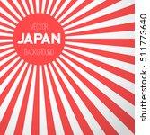illustration of japan flag... | Shutterstock .eps vector #511773640