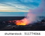 fire and steam erupting from... | Shutterstock . vector #511774066