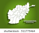 afghanistan   detailed map on... | Shutterstock .eps vector #511775464