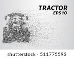 tractor of the particles. the... | Shutterstock .eps vector #511775593