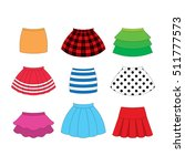set of skirts for girls on... | Shutterstock .eps vector #511777573