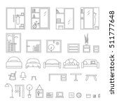 big set of icons line the... | Shutterstock .eps vector #511777648