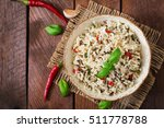 mixed boiled rice with chilli... | Shutterstock . vector #511778788