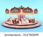 3d Cg Rendering Of A Carousel