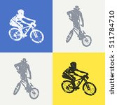bike and bikers man... | Shutterstock .eps vector #511784710