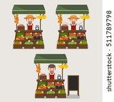 local market farmer selling... | Shutterstock .eps vector #511789798