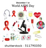 set   world aids day. protect... | Shutterstock .eps vector #511790350