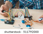 electronic component connected... | Shutterstock . vector #511792000