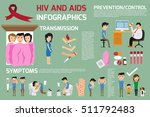 hiv and aids elements... | Shutterstock .eps vector #511792483