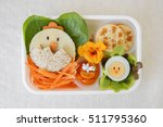 easter chick lunch box  fun... | Shutterstock . vector #511795360