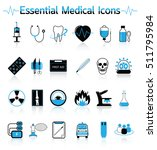 essential medical icons | Shutterstock .eps vector #511795984