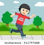 roller skater in park | Shutterstock .eps vector #511797688